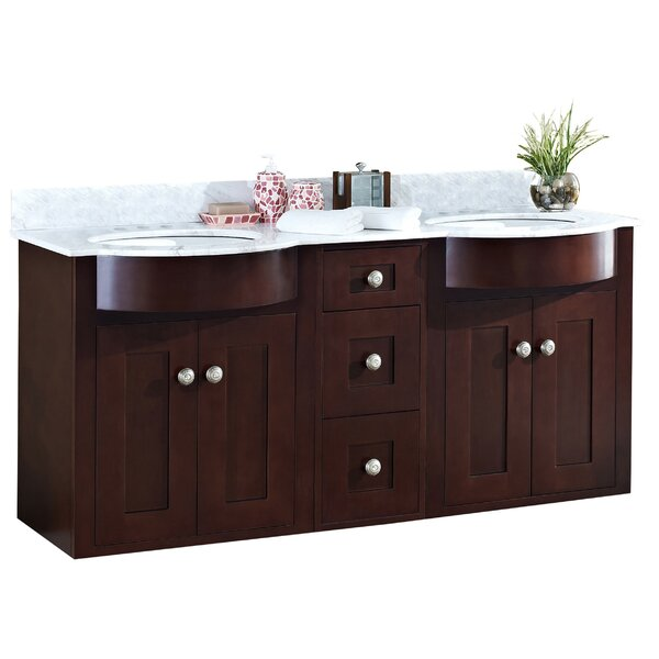 Kester Transitional 60 Rectangular Double Bathroom Vanity Set by Darby Home Co