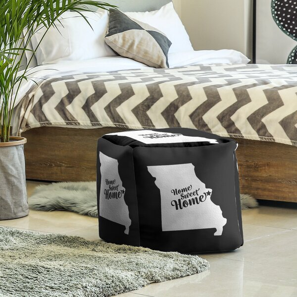 Home Sweet St. Louis Cube Ottoman by East Urban Home East Urban Home