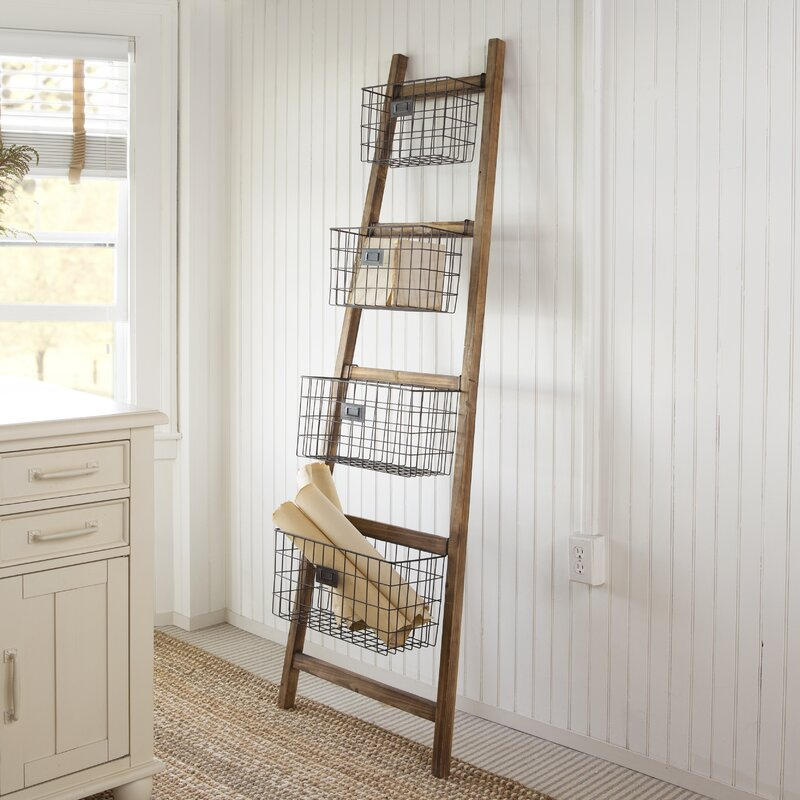 Vertical Wooden 6 ft. Blanket Ladder