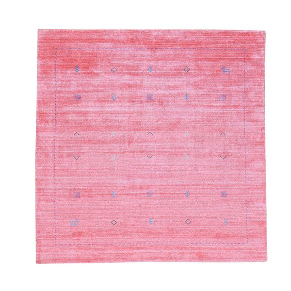 One-of-a-Kind Siegel Modern Hand-Knotted Pink Area Rug by Bungalow Rose