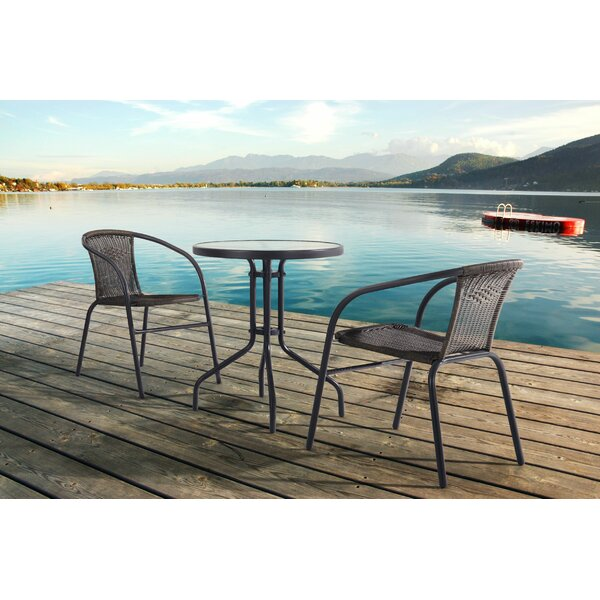 Sheila 3 Piece Rattan Seating Group by Bayou Breeze