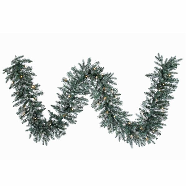 Crystal Frosted Balsam Artificial Christmas Garland by The Holiday Aisle