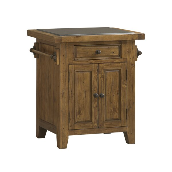 McAlester Kitchen Cart with Granite Top by Loon Peak