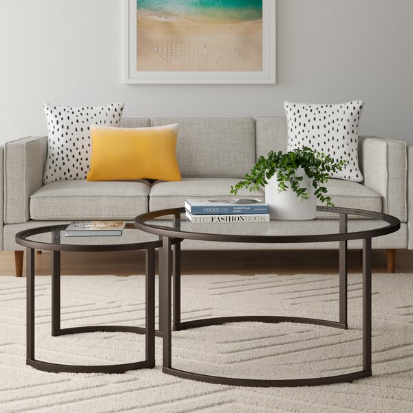 Leatherman Extendable Sled 2 Nesting Tables Coffee Table Set By Wrought Studio
