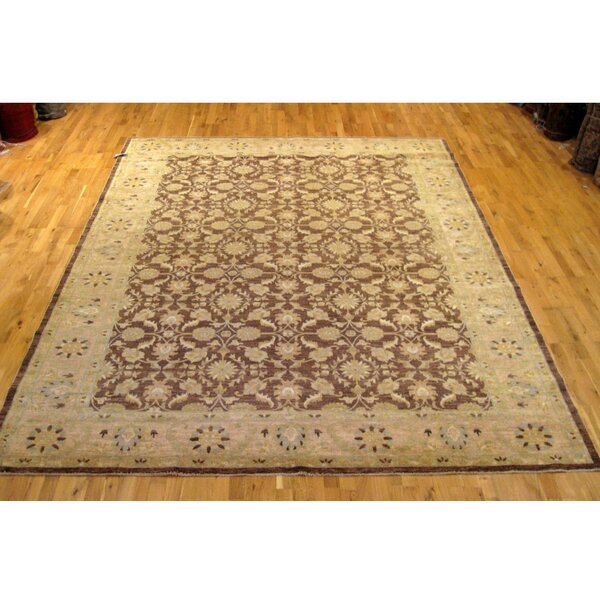 One-of-a-Kind Hand-Knotted Brown 9' x 12' Wool Area Rug