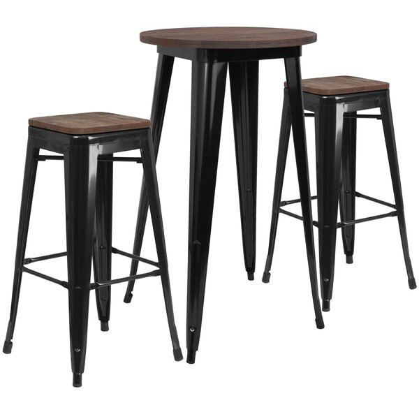 Prinsburg 3 Piece Pub Table Set by Williston Forge