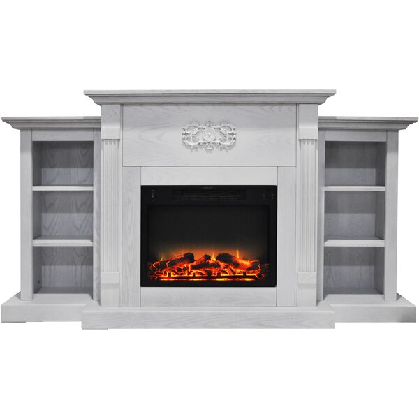 Dimmick Electric Fireplace With Logs And Grate Insert By Alcott Hill