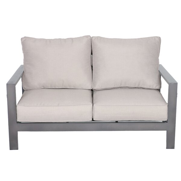 Lepage Loveseat with Cushions by Breakwater Bay