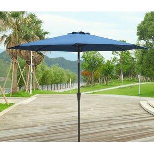 Outdoor Furniture 9u0027 Market Umbrella & Navy Blue Patio Furniture | Wayfair