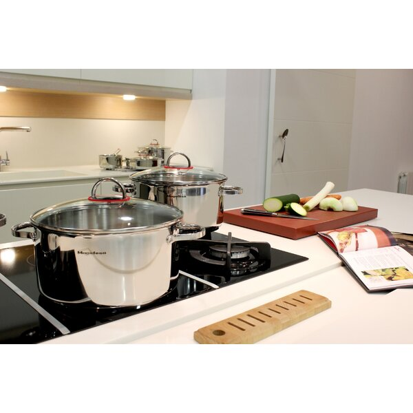 Nova Stainless Steel Stock Pot with Lid by Magefesa