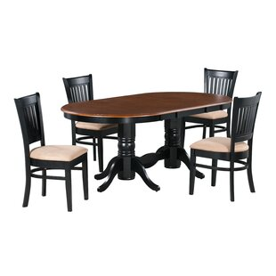 Brooke 5 Piece Extendable Solid Wood Dining Set By Alcott Hill