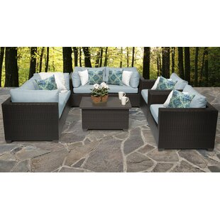Belle Outdoor 7 Piece Sofa Seating Group with Cushions by TK Classics