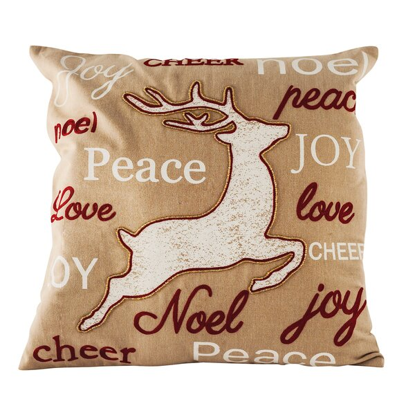 Tidings Cotton Throw Pillow by The Holiday Aisle