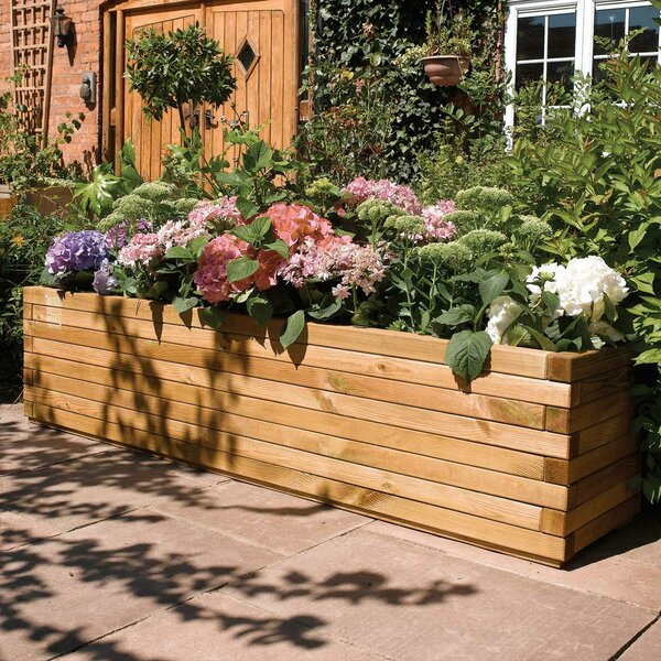European Pine Wood Planter Box by Rowlinson