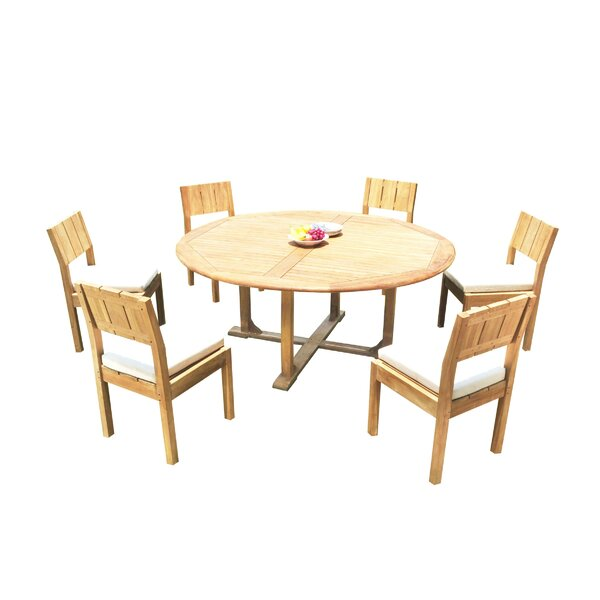 Wilson 7 Piece Teak Dining Set by Bayou Breeze