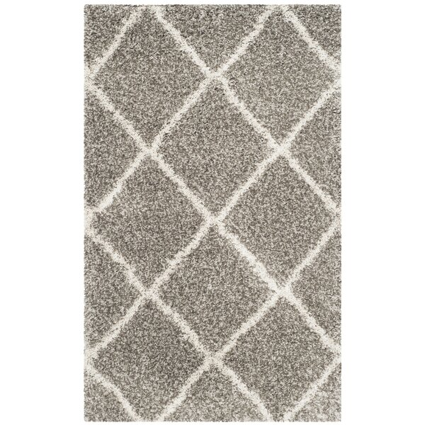 Duhon Gray/Ivory Area Rug by Mercury Row