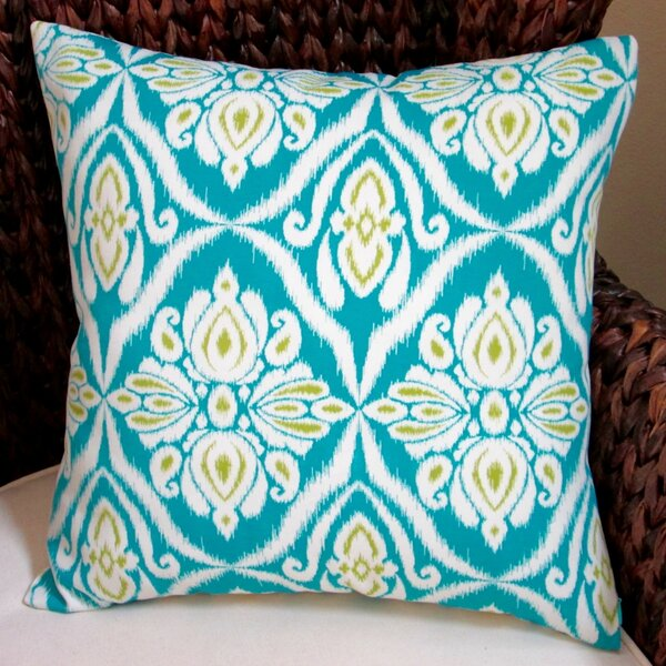 Peacock Geometric Abstract Modern Indoor/Outdoor Pillow Cover (Set of 2) by Artisan Pillows