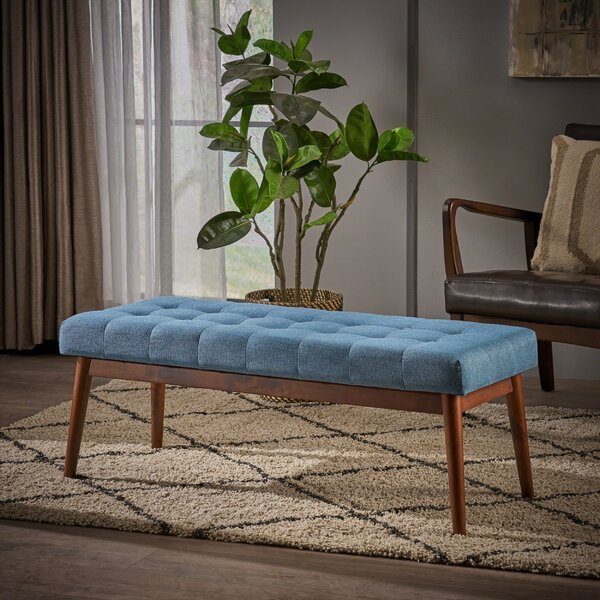Berggren Mid Century Tufted Fabric Ottoman by George Oliver