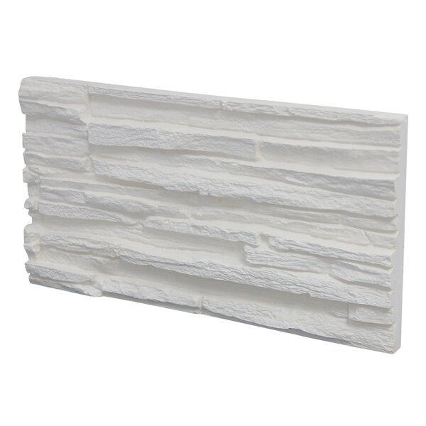 Pegasus Engineered Stone Splitface Tile in White (Set of 7) by Stone Design