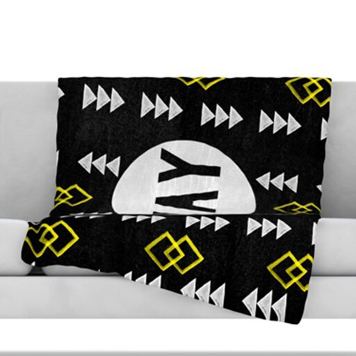 Yay Fleece Throw Blanket by KESS InHouse