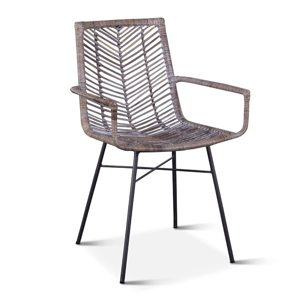 Davonte Arm Chair in Gray (Set of 2) by Bayou Breeze Bayou Breeze