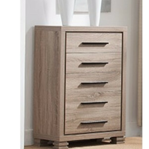 Fukuoka Elegant 5 Drawer Chest by Bloomsbury Market
