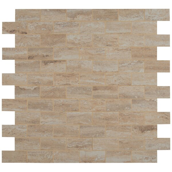 Pietra Vezio 2 x 4 Porcelain Mosaic Tile in Beige by MSI