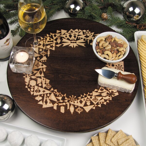 Modern Christmas Wreath Lazy Susan by Martins Homewares