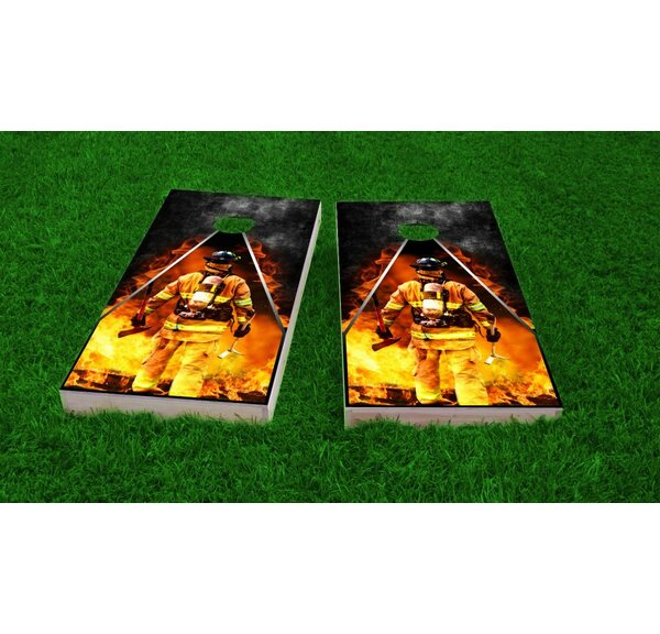 Firefighter Light Weight Cornhole Game Set by Custom Cornhole Boards