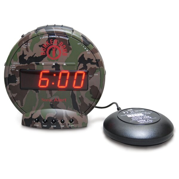 Bunker Bomb Table Clock by Sonic Alert