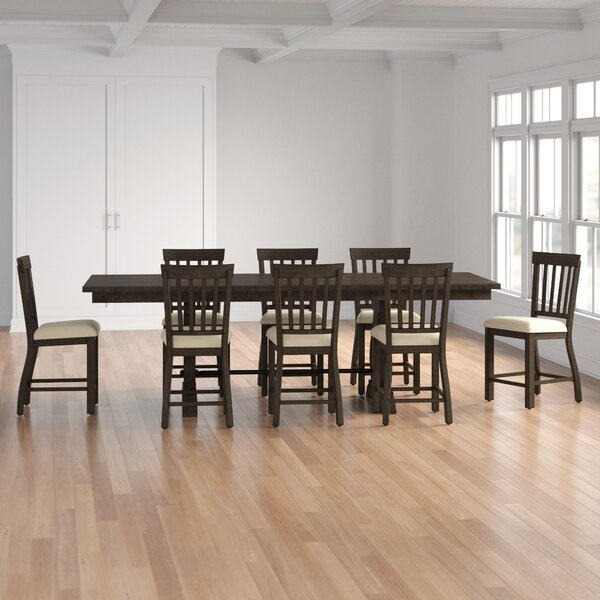 Kenworthy 9 Piece Counter Height Extendable Dining Set by Three Posts Three Posts