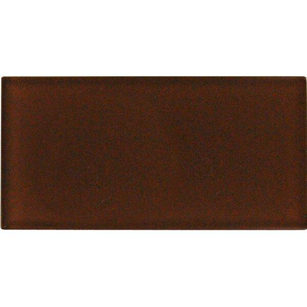 Cinnamon 3 x 6 Glass Field Tile in Caramel by MSI