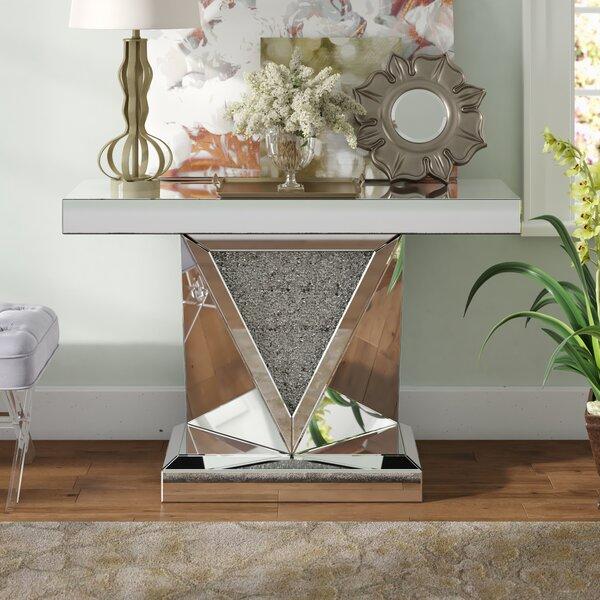 Kehlani Crystal Console Table by Rosdorf Park
