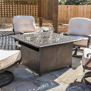 Bean Aluminum Propane Gas Fire Pit Table by Fleur De Lis Living