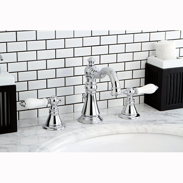 American Patriot Widespread Bathroom Faucet With Drain Assembly By Kingston Brass.