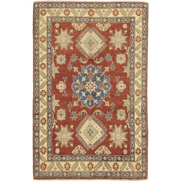 One-of-a-Kind Dicarlo Hand-Knotted Wool Brown/Beige Indoor Area Rug by Isabelline