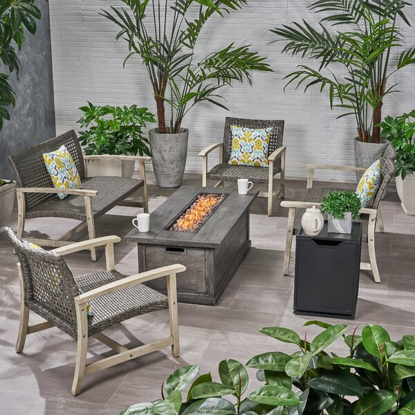 Padgett 6 Piece Sofa Seating Group by Bayou Breeze
