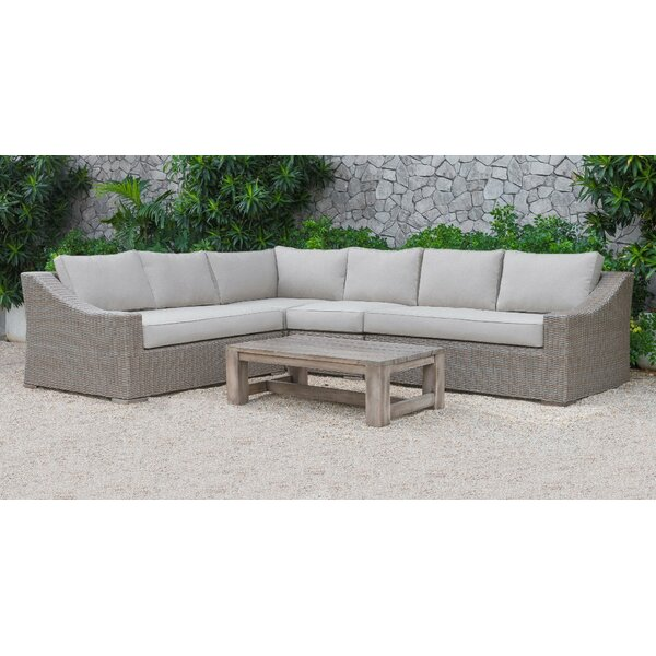 Abbot 5 Piece Sectional Seating Group with Cushions by Gracie Oaks