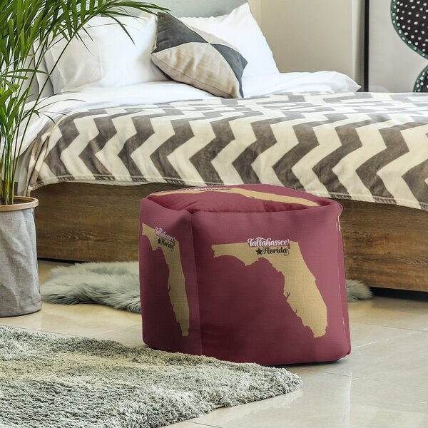 Florida Sports Cube Ottoman By East Urban Home