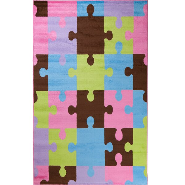 Alisa Jigsaw Puzzle Kids Rug by Threadbind
