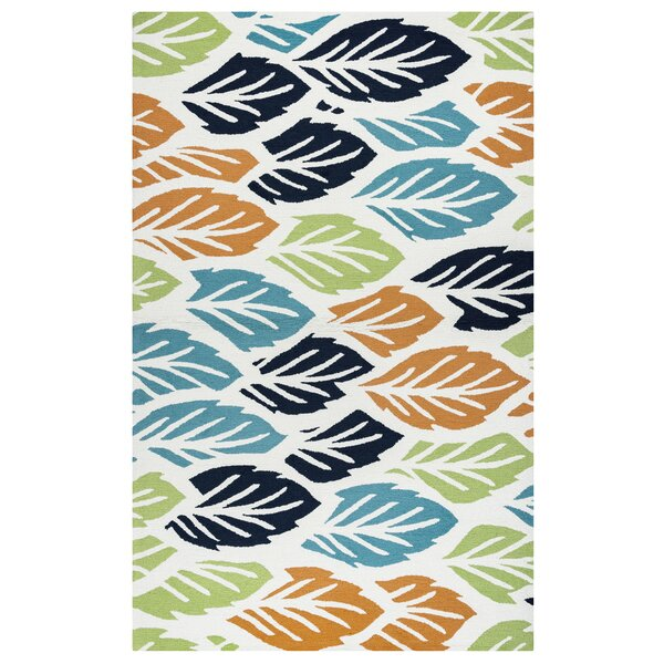 Evangeline Hand-Tufted Floral and Plant Indoor/Outdoor Area Rug by Ebern Designs