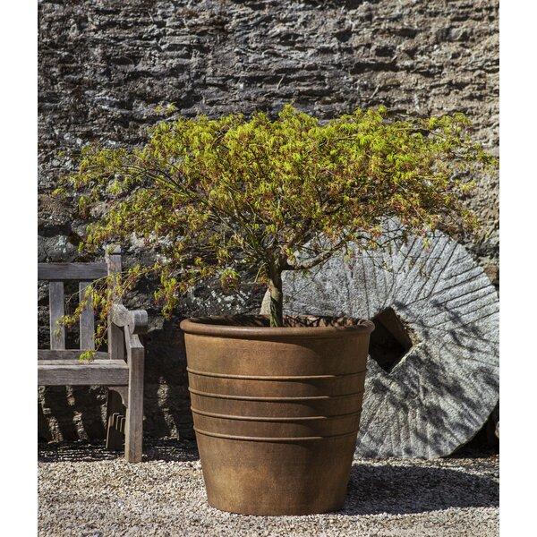 Cantline Cast Stone Pot Planter by Red Barrel Studio