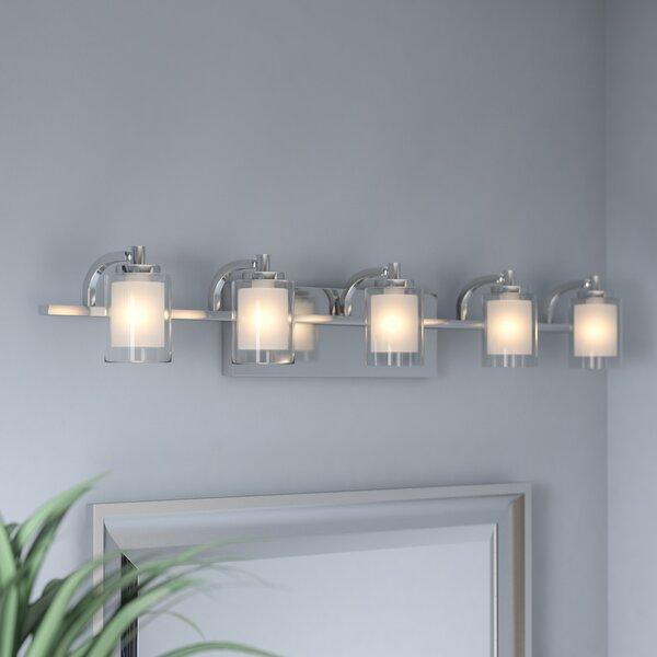 Aldrich 5-Light Vanity Light by Wade Logan