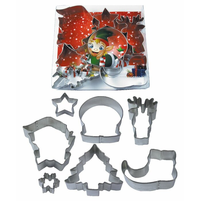Jolly Holiday 7 Pc Cookie Cutter Set