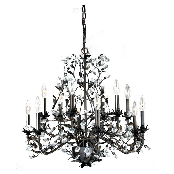 Michale 12 - Light Candle Style Empire Chandelier with Wrought Iron Accents by House of Hampton House of Hampton