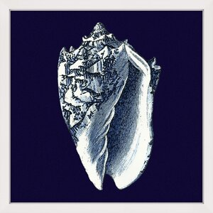 Indigo Shell II Framed Painting Print by Marmont Hill