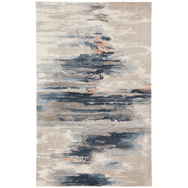 Fairlop Abstract Hand-Tufted Blue/Beige Area Rug by Ivy Bronx