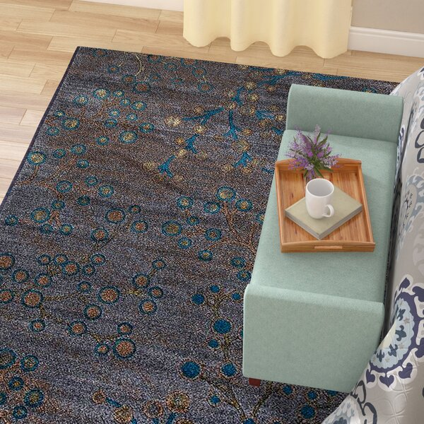 Chapman Gray/Blue Indoor/Outdoor Area Rug by Red Barrel Studio