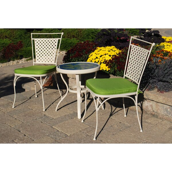Venezia 3 Piece Bistro Set with Cushions by August Grove