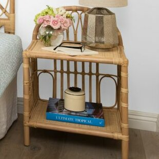 Reviews Deloris Rattan Nightstand By Bayou Breeze